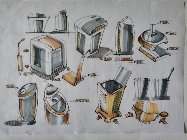 手绘家具设计快题
